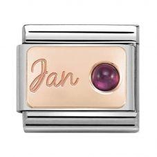 Nomination CLASSIC Rose Gold January Garnet Charm 430508/01