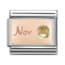 Nomination CLASSIC Rose Gold November Citrine Charm 430508/11