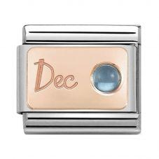 Nomination CLASSIC Rose Gold December Light Blue Topaz Charm 430508/12