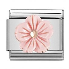 Nomination CLASSIC Rose Gold Coral Paste Flower Charm 430510/03