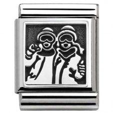 Nomination BIG Silvershine Snowboarders Charm 332111/09