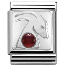 Nomination BIG Silvershine Zodiac Capricorn Garnet Charm 332501/10