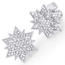 Crislu Ladies Starburst Earrings 9010431E00CZ