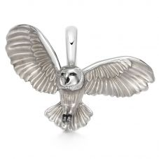 Links of London Sterling Silver and Brown Enamel Barn Owl Charm 5030.2992