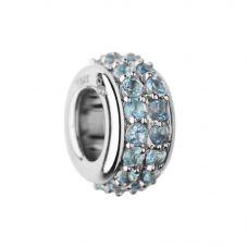 Links of London Sweetie Sterling Silver Blue Topaz Pavé Bead 5030.2418