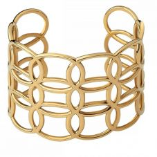 Links of London Ovals Gold Vermeil Wide Cuff Bangle 5010.4176