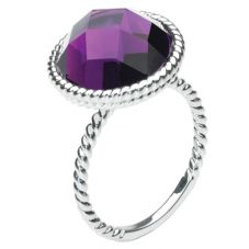 Kit Heath Silver Purple Faceted Glass Ring 10287PE11