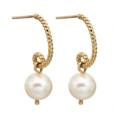9ct Yellow Gold Pearl Rope Dropper Earrings GE2144W