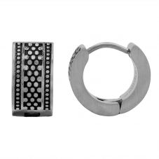 Bourne and Wilde Mens Oxidised Uniform Reptile Hoop Earrings UR21-03