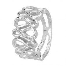 Rosa Lea Silver Cubic Zirconia Infinity Ring R2611C