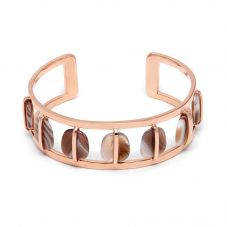 Lola Rose Ladies Bassa Rose Gold Plated Agate Cuff Bangle 2Q0284 219000