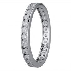Starbright Silver 2mm Cubic Zirconia Channel Set Full Eternity Ring R4179(2M) 3A