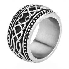 Bourne and Wilde Mens Oxidised Celtic Pattern Ring JGSR54595