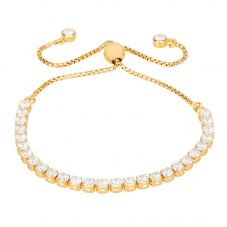 Isabella Verona Gold Tone Cubic Zirconia Toggle Bracelet SBBCSRI17XXXA0-G