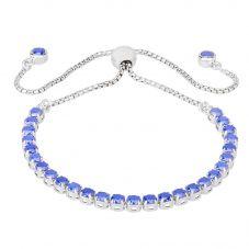 Isabella Verona Sterling Silver Blue Enamel Toggle Bracelet SBBCCRI17XXXL0-S