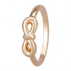 Petite Diamonds Rose Infinity Bow Ring DR346CRRG2M(T)