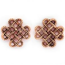 Chrysalis BODHI Rose Gold Plated Endless Knot Stud Earrings CRET0410AR