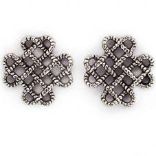 Chrysalis BODHI Silver Endless Knot Stud Earrings CRET0410AS