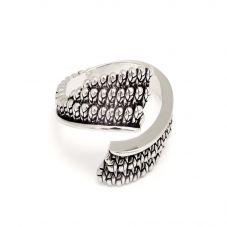 Chrysalis BODHI Silver Adjustable Garuda Ring CRRT0503AS