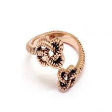 Chrysalis BODHI Rose Gold Plated Adjustable Endless Knot Ring CRRT0510AR