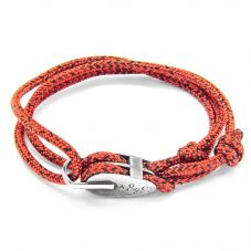 ANCHOR & CREW Tyne Red and Black Rope Bracelet AC.PU.TY13