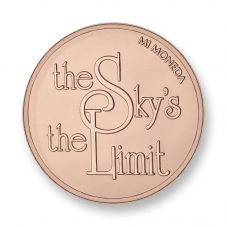 Mi Moneda Rose Gold Plated Medium Sky and Stronger Coin MON-SKY-03-M
