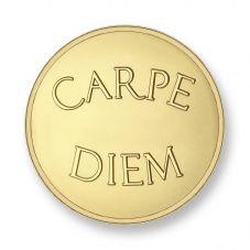 Mi Moneda Gold Plated Large Carpe Diem and Live The Life Coin MON-CAR-02-L