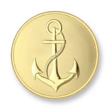 Mi Moneda Gold Plated Small Anchor and Faith Coin MON-ANC-02-S