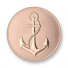 Mi Moneda Rose Gold Plated Large Anchor and Faith Coin MON-ANC-03-L