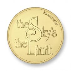 Mi Moneda Gold Plated Small Sky and Stonger Coin MON-SKY-02-S