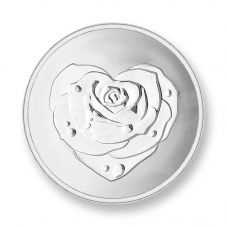 Mi Moneda Silver Plated Small Rose and Owe To You Coin MON-ROS-01-S