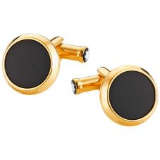 Montblanc Meisterstuck Gold Plated Iconic Black Cufflinks 112902