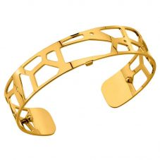Les Georgettes 14mm Gold Tone Giraffe Cuff Bangle 7026165 01