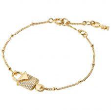 Michael Kors Color 14ct Gold Plated Padlock Bracelet MKC1042AN710