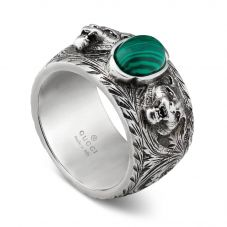Gucci Garden Mens Silver Cat Ring YBC461991001