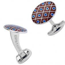 Deakin and Francis Domed Red And Blue Dot Cufflinks C0694S0802