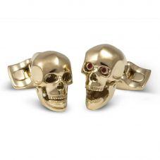Deakin and Francis Gold Plated Skull Cufflinks BMC0106C0022