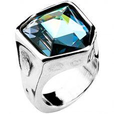 UNOde50 'Fresh' Blue Crystal Ring ANI0540AZUMTL0L (O)