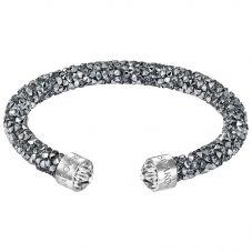 Swarovski Crystaldust Grey Crystal Cuff Bangle