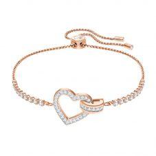 Swarovski Lovely Rose Gold Tone Heart Bracelet 5368541