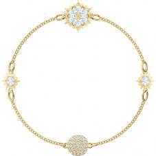 Swarovski Remix Snowflake Strand Gold Tone Bracelet