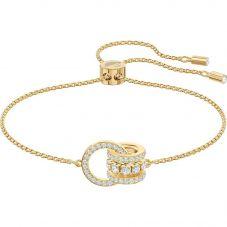 Swarovski Further White Crystal Pave Gold Tone Toggle Bracelet 5499000