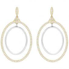 Swarovski Gilberte Gold Tone Double Hoop Earrings 5279774