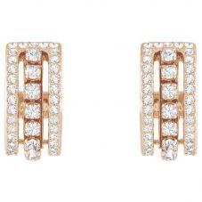 Swarovski Further Rose Gold Tone White Crystal Stud Earrings 5419852