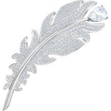 Swarovski Nice Clear Crystal Feather Brooch 5495417