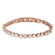 Swarovski Tennis Rose Gold Tone White Crystal Bracelet 5039938