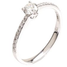18ct White Gold Single Stone 0.40ct Diamond Ring 18DR424-W
