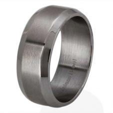 Thomas Henry Matte Polished Beveled Edges Ring SR12581