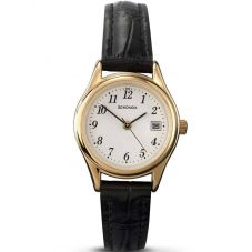 Sekonda Ladies Gold Plated Black Strap Watch 4082