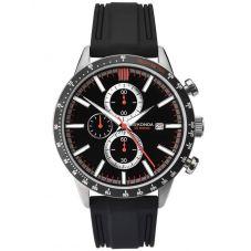 Sekonda Mens Black Rubber Chronograph Watch 1594